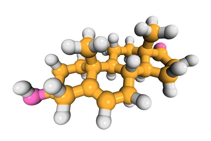 Ricostruzione grafica della molecola di DHEA