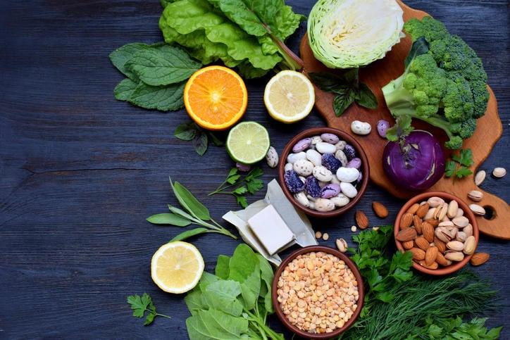 Fotografia degli alimenti ricchi di acido folico