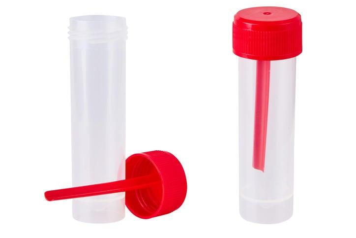 Barattoli per l'analisi del sangue nelle feci