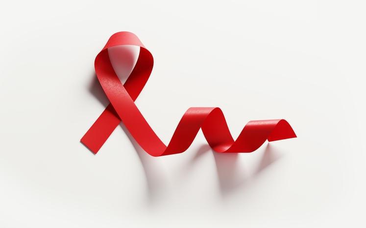 Fiocco rosso simbolo della lotta all'HIV