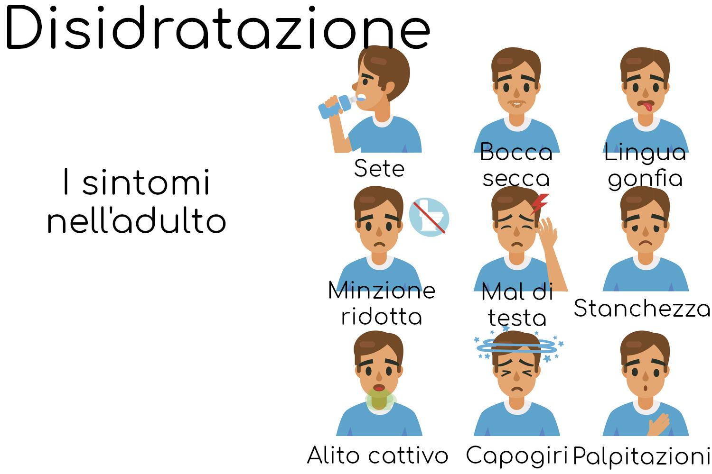 I più comuni sintomi della disidratazione nell'adulto