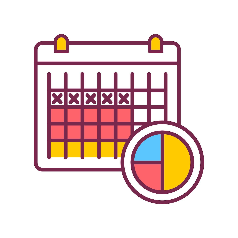 Amenorrea e calendario, clipart