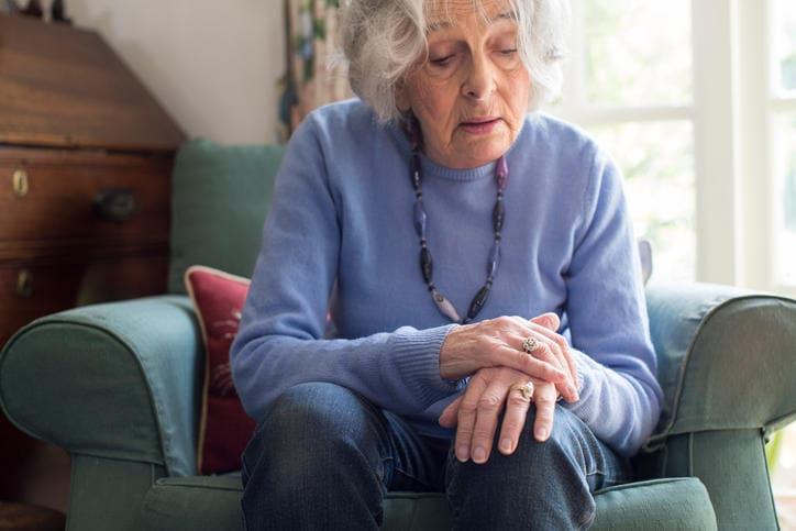 Donna con morbo di Parkinson