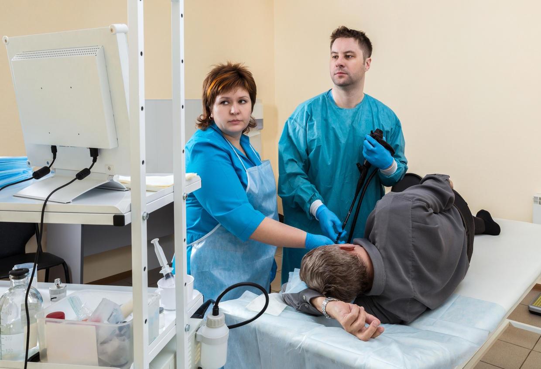 Paziente sottoposto a gastroscopia