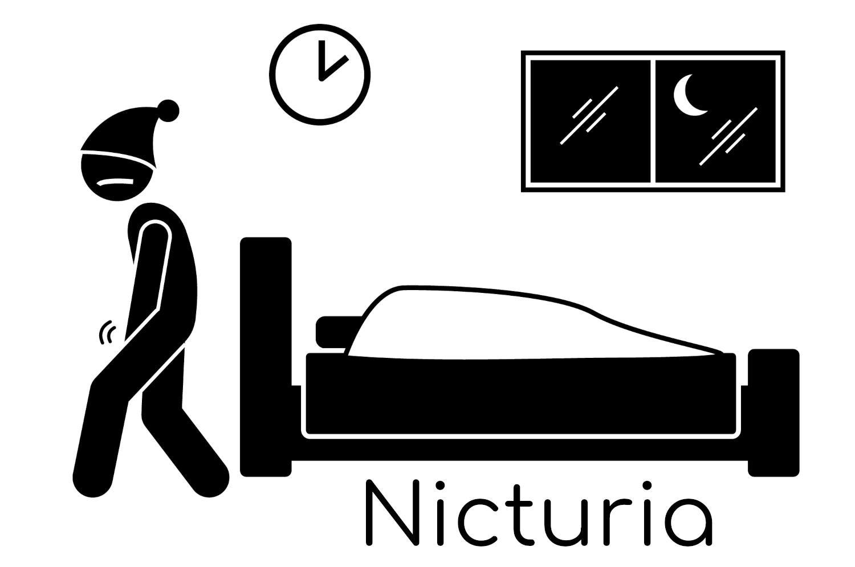 Clipart dedicata alla nicturia