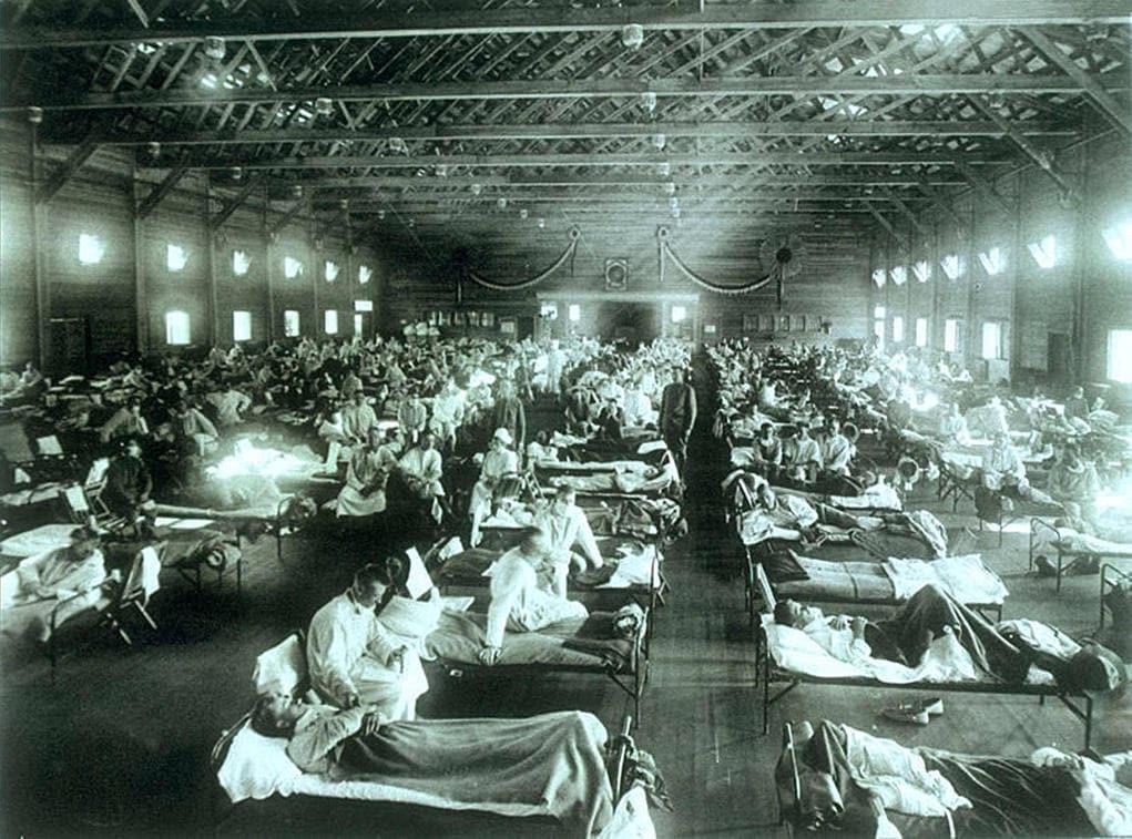 Ospedale allestito per far fronte alla spagnola